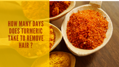how many days does turmeric take to remove hair