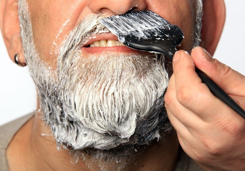 beard dye on beard