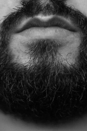 close up of beard