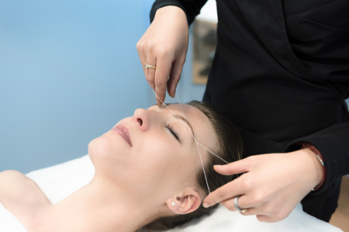 threading hair removal for chin hair
