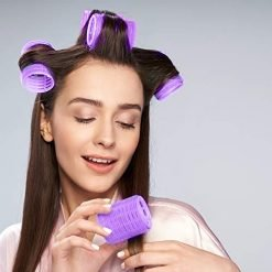 put your hair in rollers