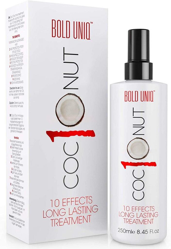coconut heat protectant spray